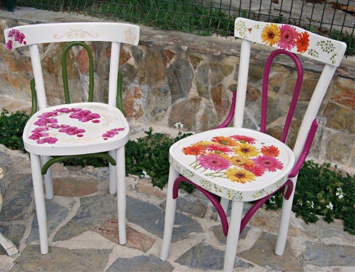 декорирование старых стульев своими руками фото прибыли далеких