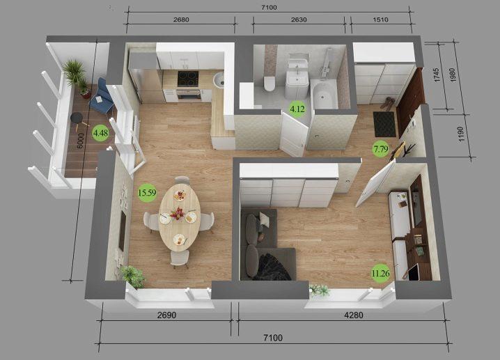 Перепланировка: Три варианта двухкомнатной квартиры