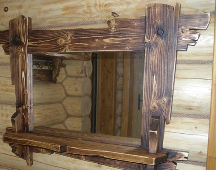Зеркало под старину своими руками из дерева