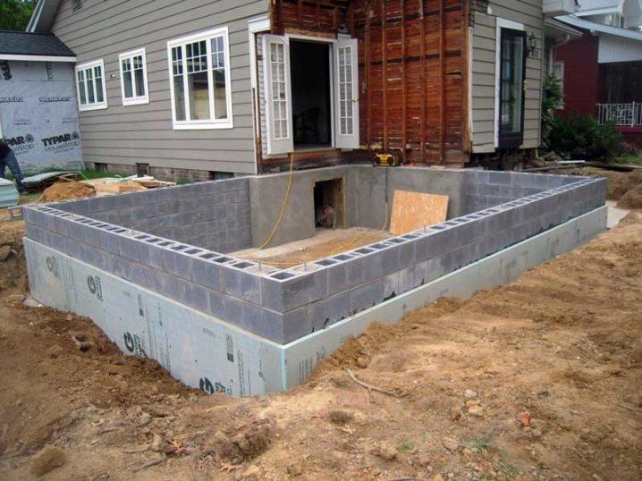 строительство фундамента дома пеноблока