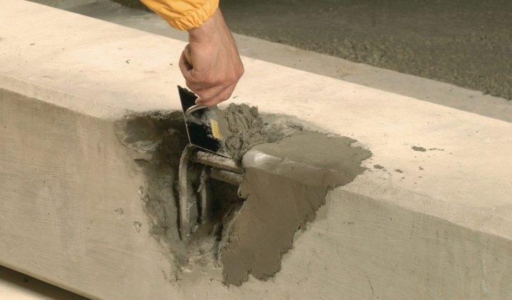 ремонт бетонных поверхностей смесями эмако