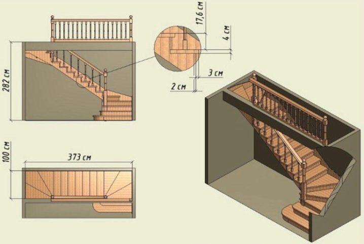 Стандартные размеры ступенек лестницы - Всё о лестницах