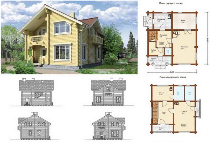 Проекты с дерева дома чертежи фото