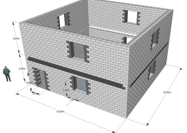 онлайн строительство дома из блоков