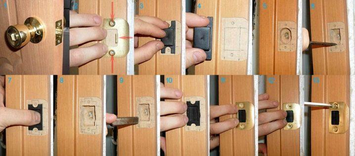 Установка дверных замков своими руками