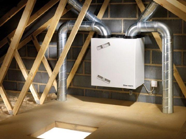 Схема вентиляции в доме из бруса