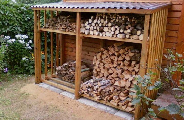 Дровница для дачи: простые и сложные варианты постройки своими руками (135 фото   видео)