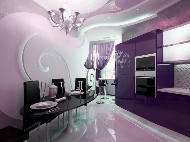 С какими цветами сочетается фиолетовый цвет в интерьере