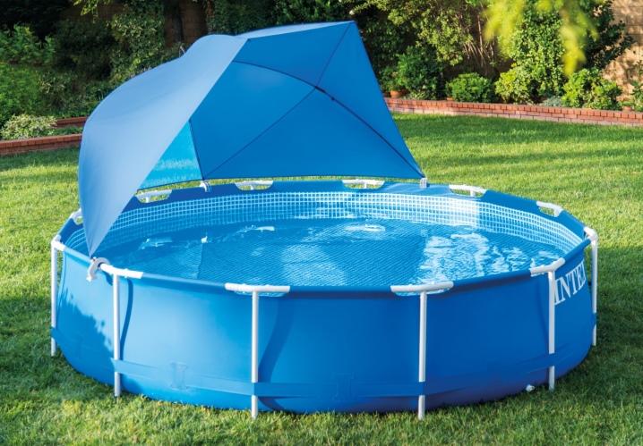 Крыша для каркасного бассейна (22 фото): павильон для круглого бассейна, купол и навес из поликарбоната. Монтаж своими руками