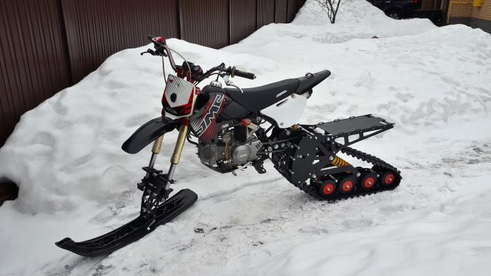 Снегоход из скутера: как сделать своими руками из скутера 50-100 кубов? Чертежи самодельного снегохода с двигателем