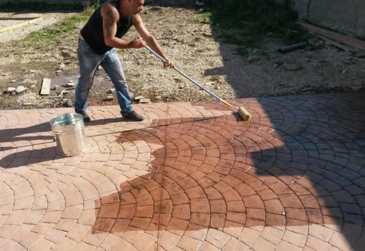 краска для бетона для тротуарной плитки купить