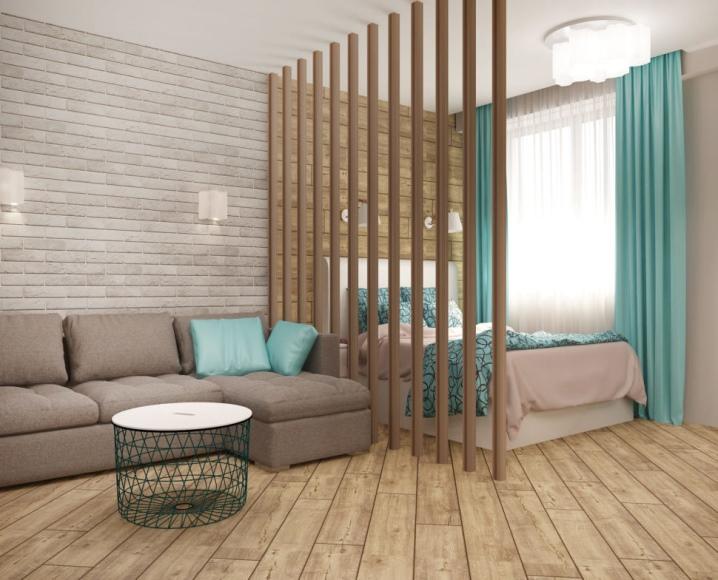 Реечные перегородки: зонирование комнат рейками из дерева, декоративные  раздвижные перегородки и другие виды в интерьере
