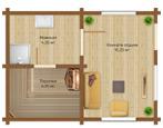 Красивые проекты бань с комнатой отдыха
